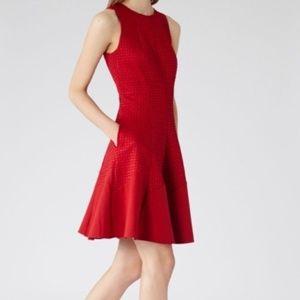 Reiss Red Pinot Cut Dress